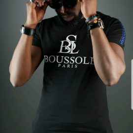T-shirt noir Boussole Paris – Clothing Homme